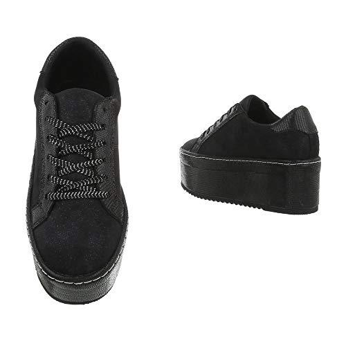 Ital I 11 design Schwarz Donna Sneaker 6Bq6UF