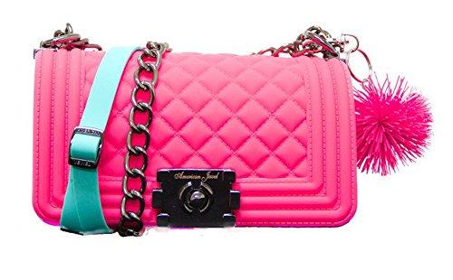 American Jewel Danielle Boy Bag Silicone Purse -