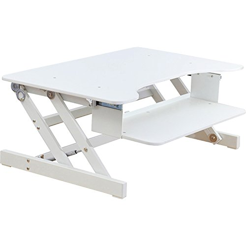 Lorell Sit-To-Stand Monitor Riser, White - LLR99901
