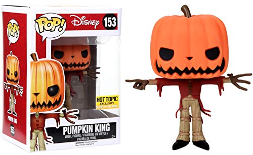FUNKO Pop! Disney Pumpkin King #153 Hot Topic Exclusive Glows In The Dark / Nightmare Before Christmas Vinyl Figure