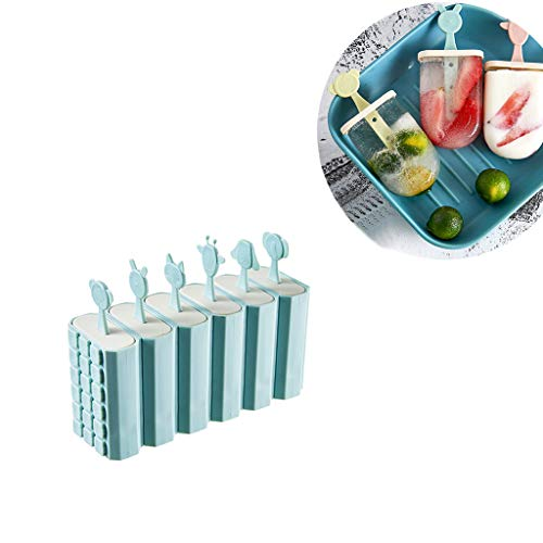 (Classic Pop Molds, 6 Easy-release Popsicle Molds With Sticks and Drip-guards, BPA-free)