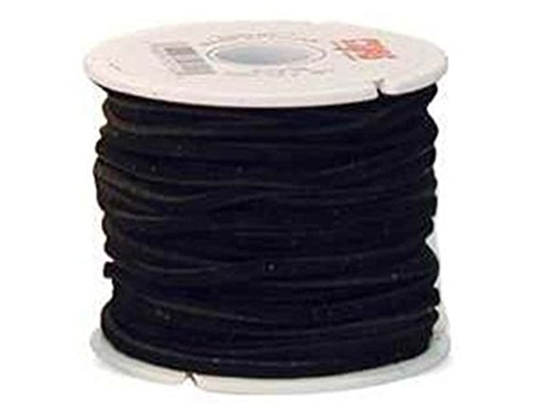 Leather Factory Suede Lace 1/8 in. x 25 yd. Black (25 yards)