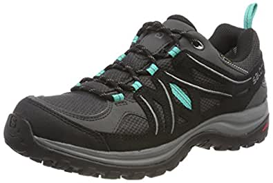 Salomon Women's Ellipse 2 Gore-Tex Trekking & Hiking Shoes, Magnet/Black/Atlantis, 6.5 US