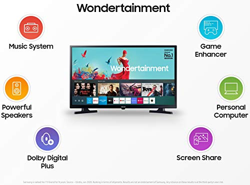 Samsung 80 cm (32 Inches) Wondertainment Series HD Ready LED Smart TV UA32T4340AKXXL (Glossy Black) (2020 Model) Discounts Junction