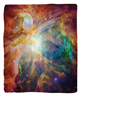 Chaoran 1 Fleece Blanket on Amazon Super Silky Soft All Season Super Plush Outerpace Art Decor Collection Universe Abstract Nebula Galaxy Chakra Infinity Psychedelic Photography Print Fabric et Colorf