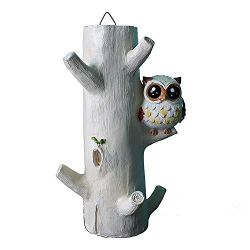 ADCorner Owl Design Key Holder Key Rack Key Hanger Decorative Wall Hook for Towels Hats Flower Vase Foyers Entryway Hallway Table Decor (owl)