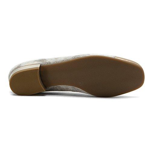 Toe ARA Paradise Flat Metallic Bel Taupe Silver Ballet Women's wqwr8Cnz4