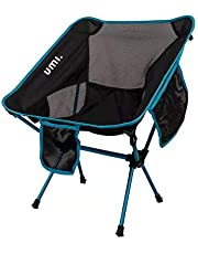 UMI. Essentials Portable Camping Chair Compact Ultralight Folding Chair with Carry Bag for Hiking, Beach,Fishing,Outdoor Heavy Duty 265 lb Capacity