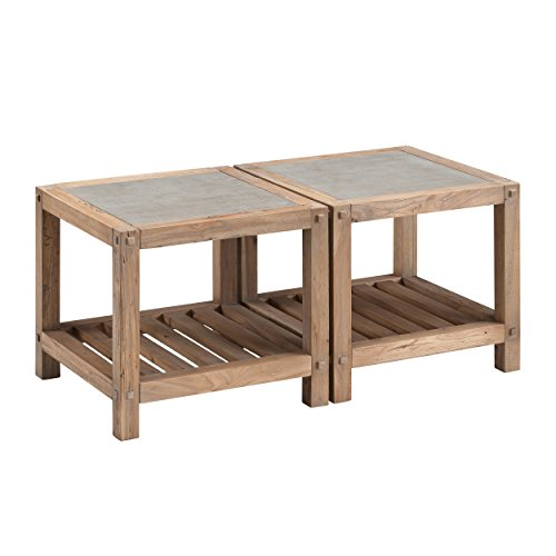 Furniture HotSpot – Set of 2 Reclaimed Wood End Tables/Bunching Tables