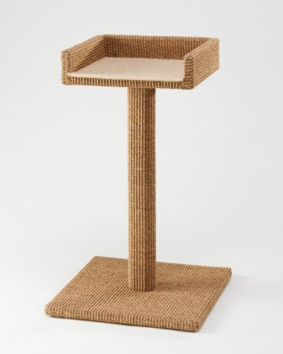 Sustainable Lifestyles meow-sienna Cats Meow - 34 in. Sisal Cat Scratching Post and Sleeper Perch -...