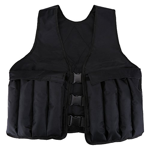 GLOGLOW 44LB/20KG Adjustable Weighted Vest Workout Exercise Boxing Training Jackets Sand Loading Cloth for Gym Running Strength Training Fitness Sports (Weights not Included) by GLOGLOW