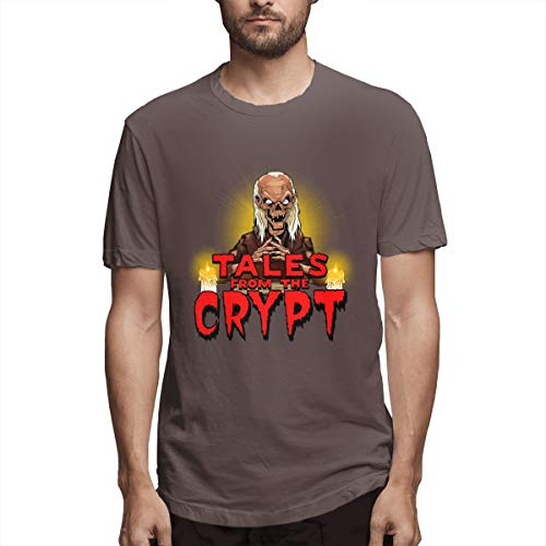 - BTBANIN Tales from The Crypt Men Simple T Shirt M Coffee