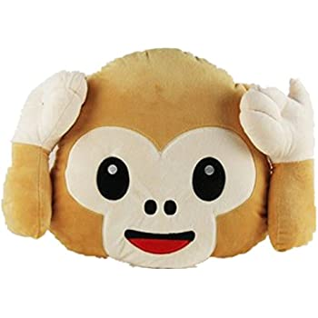 Amazon Dolphineshow Soft Plush Emoji Monkey Pillow Home Kitchen Unique Monkey Covering Eyes Emoji Pillow