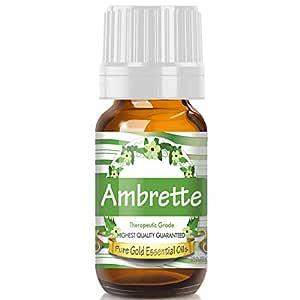 Pure Gold Ambrette Essential Oil, 100% Natural & Undiluted, 10ml