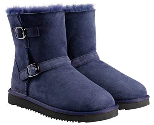 Kirkland Signature Kids' Shearling Buckle Boot, Navy, 4