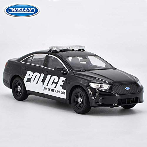 Greensun 1:24 Scale Ford Taurus Police Intercepter Toy Diecast Car Model Educational Collection for Kids's Birthday Gifts