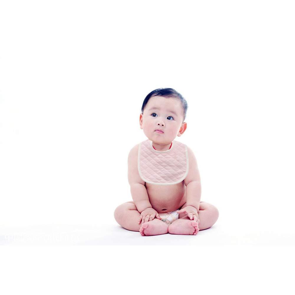 colore rosa 1 PC impermeabile del cotone del bambino bavaglini unisex di spessore doppio strato Bib