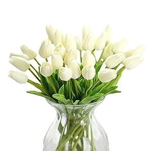 ADSRO 1PCS PU Artificial Tulip Flower Artificial Plant Silk Flower Floral Wedding Bouquet Home Party Design Flower 111