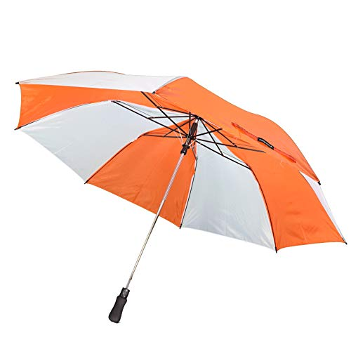 (ActivSport Folding Golf Umbrella - Great for Travel - Auto Open - Strong Construction - Designer Colors - Classic Value by Unity (Orange/White))