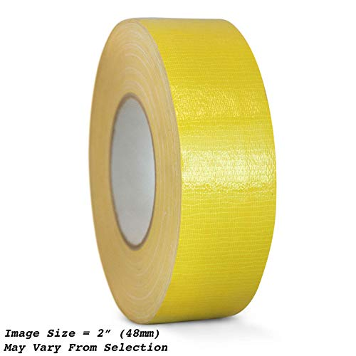 WOD CDT-36 Advanced Strength Industrial Grade Yellow Duct Tape, Waterproof, UV Resistant For Crafts & Home Improvement (Available in Multiple Sizes & Colors): 2 in. x 60 yds. (Pack of 1) ()