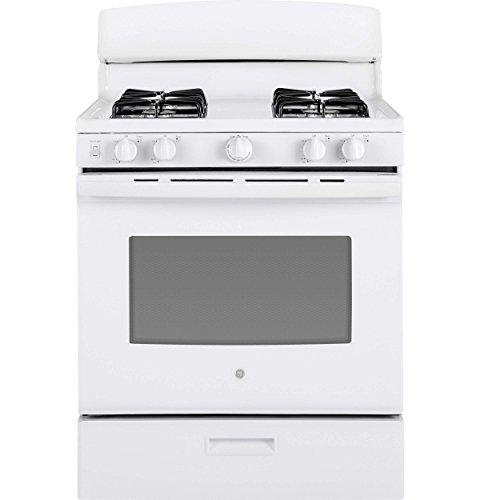 GE JGBS30DEKWW 30 Inch Freestanding Gas Range with 4 Sealed Burner Cooktop, in White
