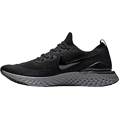 Nike Mens Epic React Flyknit 2 Running Shoes Black/Anthracite | Road Running