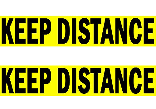 Rayna Creations 2X Keep Distance Bumper Sticker Sign, Small Size 9.3 by 1.8 Inch, Not Big But Visible to Approaching Tailgaters Made in USA with Strong Pressure Sensitive Glue and Last for Years