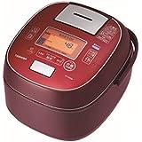 東芝 真空圧力IHジャー炊飯器(5.5合炊き) ディープレッドTOSHIBA 圧力+真空 合わせ炊き RC-10VSM-RS