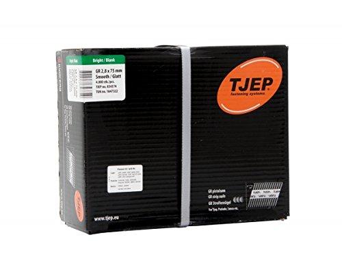 TJEP GR 28/75 D-Kopf Streifennägel 34° glatt Blank, 2,8x75mm Jumbobox