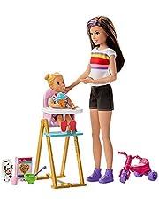 Barbie GHV87 - Skipper Babysitters Inc.-lekset med Skipper-docka, barndocka som kan äta med mera