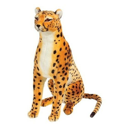 Melissa & Doug Giant Cheetah - Lifelike Stuffed Animal (over 4 feet long) (Plush Cheetah)
