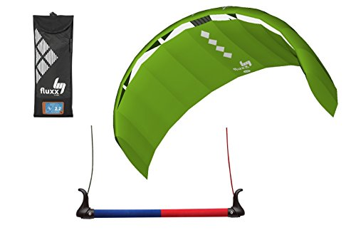 HQ4 FLUXX 1.8 METER FOIL TRAINER KITE- GREAT FOR LEARNING THE DYNAMICS OF POWERKITING AND KITEBOARDING by HQ4