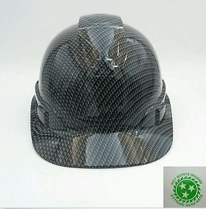Wet Works Imaging Customized Pyramex Cap Style Gray Carbon Fiber Hard Hat  With Ratcheting Suspension