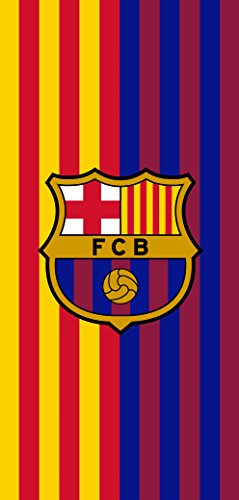 Barcelona Club Football - MES QUE UN CLUB FC Barcelona Soccer Team Two Tone Beach Towel