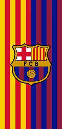(MES QUE UN CLUB FC Barcelona Soccer Team Two Tone Beach Towel)