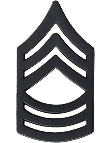(US Army Black Metal Pin-On Rank - Master Sergeant)