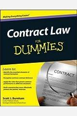 Scott J. Burnham: Contract Law for Dummies (Paperback); 2011 Edition Paperback