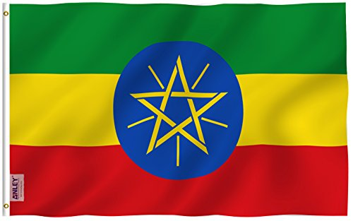 Anley Fly Breeze 3x5 Foot Ethiopia Flag - Vivid Color and UV