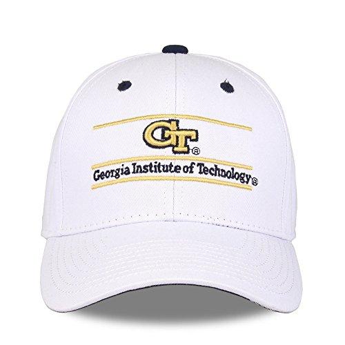 NCAA Georgia Tech Unisex NCAA The Game bar Design Hat, White, Adjustable ()
