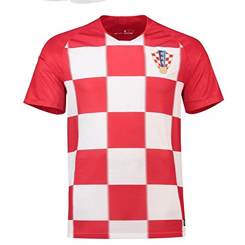 (Sykdybz 2018 Football Uniform Croatia Home Adult Children Teenager Jersey Suit Training Team Clothing Fans Souvenirs, M)