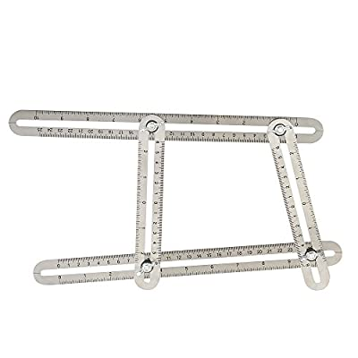 FECOPRIOR Angle-izer Template Tool - Stainless Steel General Multi-angle Measuring Ruler for Handymen Builders Craftsmen and Fathers