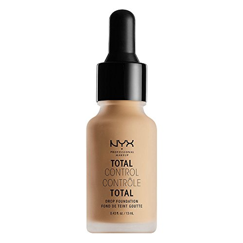 NYX PROFESSIONAL MAKEUP total control drop foundation, medium olive, 0.43 fl oz