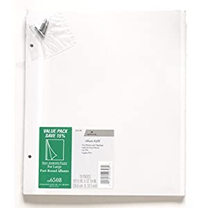 Hallmark 18 Self Adhesive Pages for Large Post Bound Albums - Ar6508