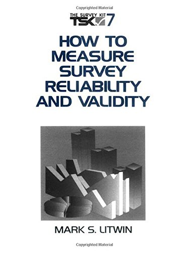 LITWIN: HOW TO MEASURE SURVEY (P) RELIABILITY AND VALIDITY (Survey Kit)