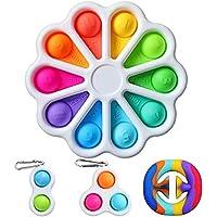 Flower Fidget Toy Pack, Bubble Sensory Simple Dimple Fidget Toy, Simple Dimple Fidget Popper Sensory Toys for Stress…
