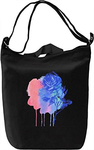 Watercolor Flower Borsa Giornaliera Canvas Canvas Day Bag| 100% Premium Cotton Canvas| DTG Printing|