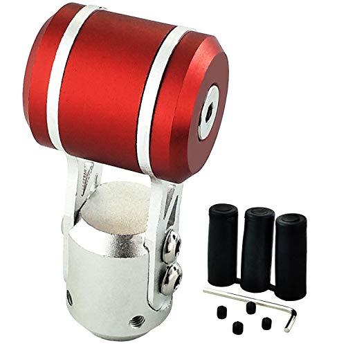LUNSOM Aluminium Stick Shift Knob Automatic Shift Lever Knob Head Transmission Gear Shifter Handle Car Metal of Good Heavy Weight ()