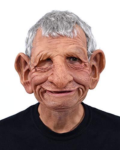 Moving Halloween Masks (Zagone Studios Super Soft Latex Papa Mask a Happy Old Man)