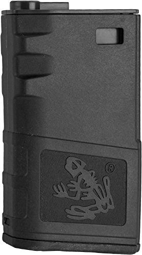 Evike - G&P 140rd Short Skull Frog Hi-Cap Magazine for M4 / M16 Series Airsoft AEG Rifles (Color: Black)