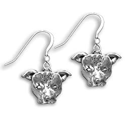 Sterling Silver Pit Bull Earrings by The Magic Zoo